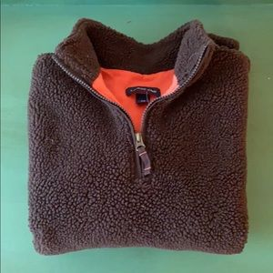 Lands' End Brown Half-ZIP Pullover